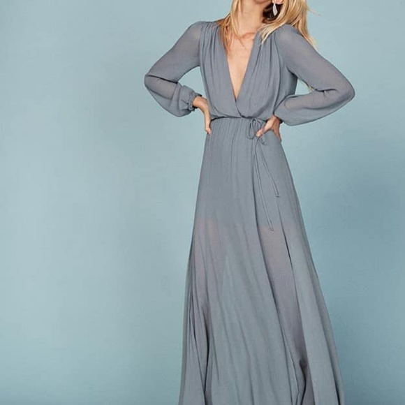 ca6bc5dcab2 Reformation blue willow dress